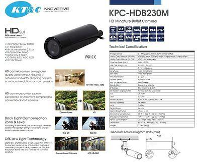 Kt&c Colore Hd-Sdi 23mm Mini Bullet Videocamera 1080p Sony Exmor CMOS 3.7mm 6