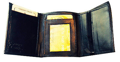 Rfid Blocking Mens Leather Trifold Wallet Id Credit Card Zip Coin Holder 5