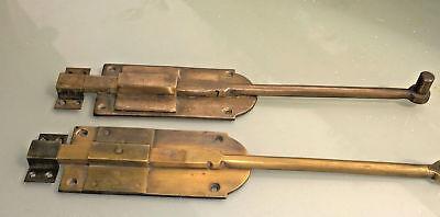 4 flush BOLT french old aged style doors heavy brass slide 29 cm long bolts B 8