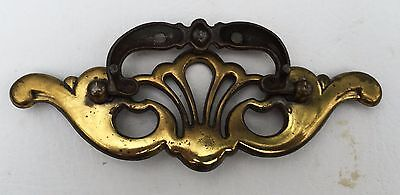 Antique Hardware Vintage Brass Batwing Chippendale Drawer Pull 3 1/2 inch center 4