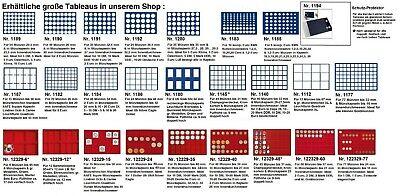 Look Alluminio Valigia per Monete Gigante 15 Tableaux Rosso 60 Scompartimenti 8