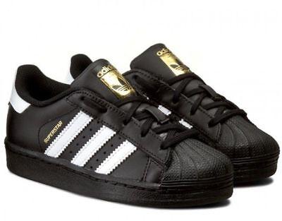 scarpe adidas superstar bambino nere
