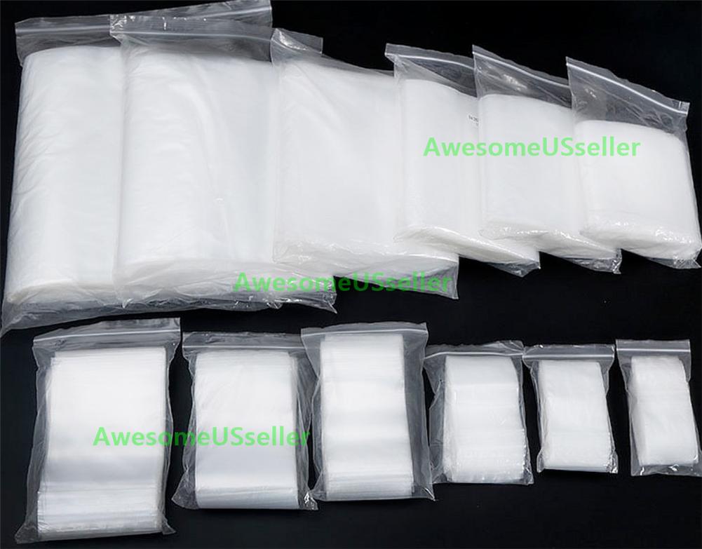 Clear 4Mil Ziplock Bags HEAVY-DUTY Reclosable Zip Lock Plastic Zipper Poly Small 9