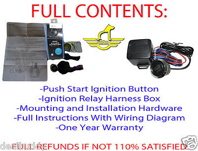 FORD LED START Push Button Engine Ignition Starter Kit Free USA Shipping-NEW