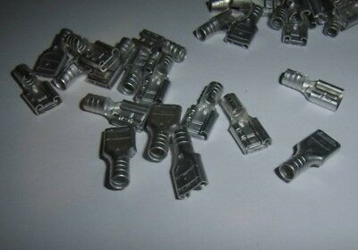100 Ring Terminal Connector Non-Insulated Uninsulated 16-14 GA AWG Gauge #6