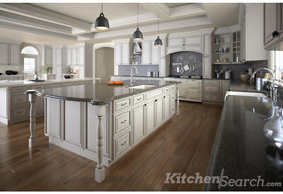 ALL WOOD KITCHEN CABINETS 10x10 RTA Signature Pearl ...