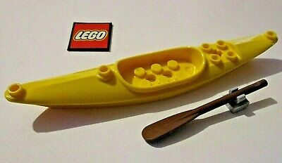 Kayak 2x15 Yellow Canoe with Paddle // Oar Lego Design 29110 87585