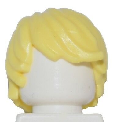 LEGO Minifigure Hair YELLOW 87991 Male Boy Tousled Side Part Swept Combed