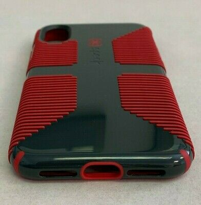 the best attitude 57255 94214 SPECK CANDYSHELL GRIP iPhone X case - dark gray / red - New!!!