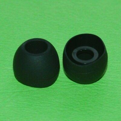 6 In Ear Kopfhörer Silikon Polster, Earpads, Gummi Stöpsel, schwarz, weiß, S, M