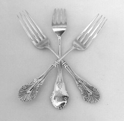 Corinthian Large Dessert Forks 3 Shiebler Sterling Silver 1855 2