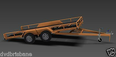 Trailer Plans - TILT FLATBED CAR TRAILER PLANS (14x6ft) - 2500kg - PLANS ON USB 7