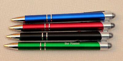 Kugelschreiber in 4 versch. Farben inkl. von innen beleuchteter Gravur   - LED- 6