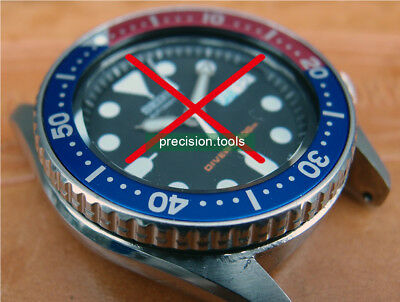 Red Blue Pepsi Color Replacement Insert For Scuba skx013 Repair Spare Parts 0446