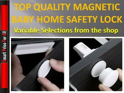 *UPGRADED Kit* Invisible Magnetic Safety Home Proof Cupboard Door Drawer Lock 7