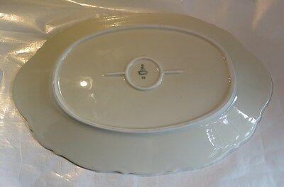Plat  ovale avec dorure « Bavaria Mitterteich » 79