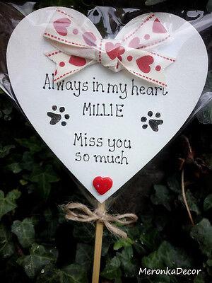 Always in my heart- PET MEMORIAL-Dog-Cat Grave Personalised Plaque 4