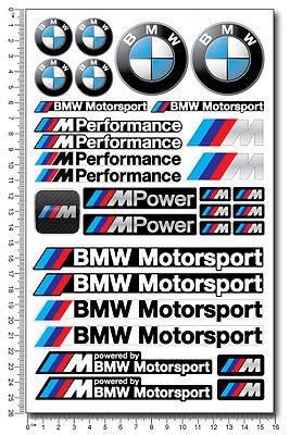 Mpower decal set 53 stickers wheel rim bmw performance Motorsport 3 5 7 series 3