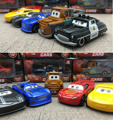 Cars 2 Lightning McQueen Racer Car&Mack Truck Kids Toy Collection Set Gifts 7PCS 5
