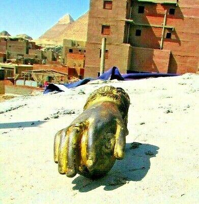 Vintage Egyptian cast Iron Hand Door Knocker Bell Rare hand Iron, 19th. #3 5