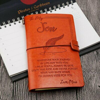 To My Son Where Ever Love Mom Engraved Leather Journal Notebook Diary 2