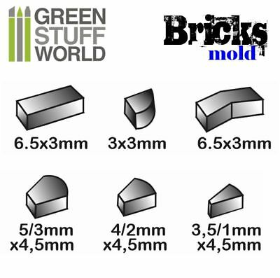 for resins Impression walls Pack x3 BRICKS Textured Stamp SILICONE MOLD