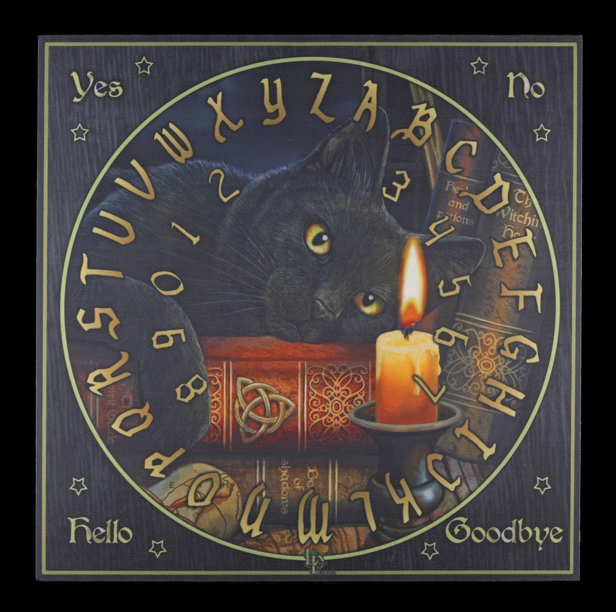 Wahrsagerbrett mit Katze - The Witching Hour - Witchboard Quija Brett Board Hexe