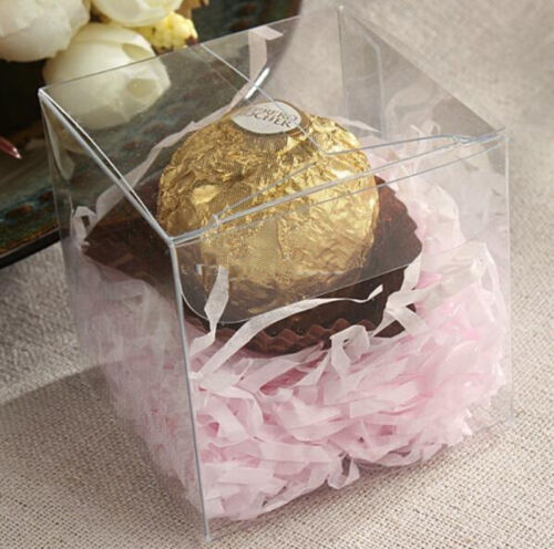 Clear Square Wedding Favor Gift Box Pvc Party Candy Bags Chocolate