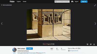 Antique Frank Lloyd Wright Freeman House Los Angeles Ca Architectural Artifact 12