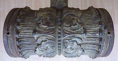 Antique Architectural Cast Iron Double Light Fixture Ornate HD Bracket Lamp 5