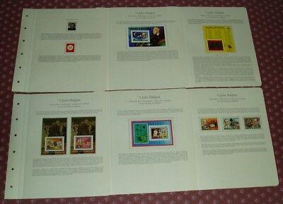 75 Jahre Nobelpreis, ABO-Motivsammlung: 54 komplett bestückte Vordruckblätter