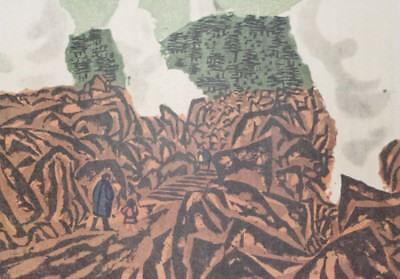 UNZEN HOT SPRINGS : By KAZUO TAKADA, Japanese Shin-Hanga Print, C1960s 3