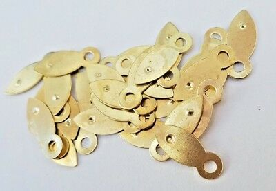 Picture Frame Clips Turn Buttons 19mm Brassed Framing Choose Quantity 8