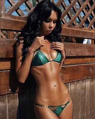 ca0add6b44 ... Agent Provocateur Cassandra Green Bikini Bra AP 3   Brief AP 4 Set - Brand  New