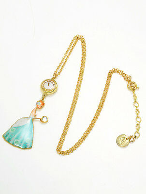 N2 by Les Nereides Soulier de Verre Glass shoes Cinderella BRASS Necklace F//S