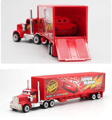 Cars 2 Lightning McQueen Racer Car&Mack Truck Kids Toy Collection Set Gifts 7PCS 4