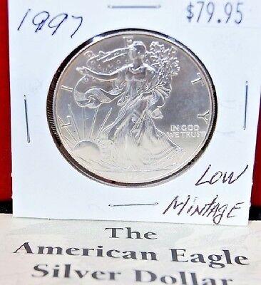 1997 Silver American Eagle BU Coin 1 oz $1 Dollar US Mint Uncirculated Brilliant 5