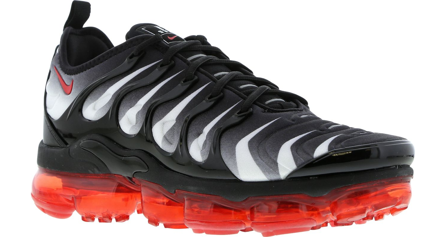 NIKE AIR VAPORMAX Plus Black Red Men's Trainers All Sizes
