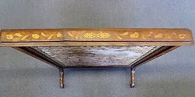 Antique English Inlaid Mahogany Adjustable Firescreen W/French Tapestry.1870 3