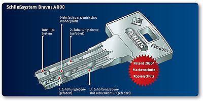 ABUS Bravus4000 Hochsicherheits-Schließzylinder Knaufzylinder Z65//K35mm