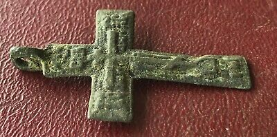 Authentic Antique 18th-19th Century Russian Orthodox Bronze Cross  U3-4 3