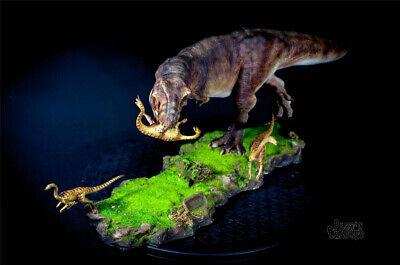 Tyrannosaurus Rex Prey Gallimimus Statue Dinosaur Model Animal Toy Collector GK 8