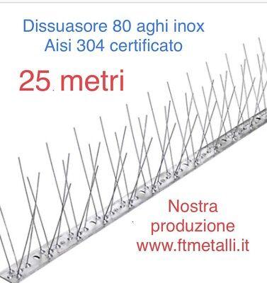 25 Mt Dissuasore Per Volatili Piccioni Flessibile 80 Spilli Inox Aste Da 1 Mt 4