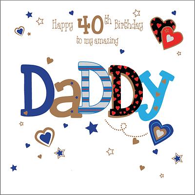 Personalised 30th Birthday Card Daddy Dad Husband Boyfriend Any Age