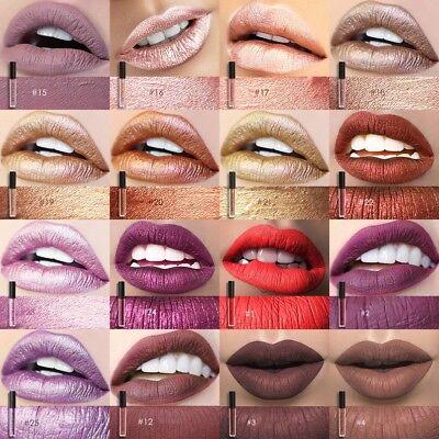 FOCALLURE 25 Colors Long Lasting Waterproof Matte Lipstick Liquid Gloss Cosmetic 2