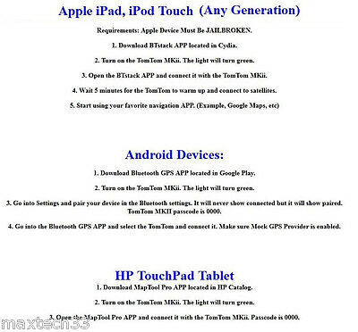 TOMTOM MKII WIRELESS Bluetooth GPS Receiver For Apple iPad 1 2 3 4 Air Mini  WiFi
