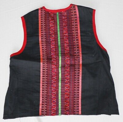 vintage tribal exotic chinese miao people's hand embroidery costume vest 4