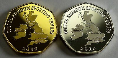 Pair of THE CRUCIBLE Commemoratives. 24ct Gold. Silver. Albums/Filler 2019 8
