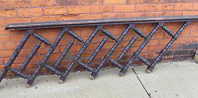 Oak Newell Post Two Spool Handrail Six Foot Seven Inches Long Unusual Repurpose 3