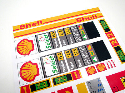CUSTOM CITY - TOWN - SHELL STICKERS  for SETS Lego 1253 1255 1256 and more! 4